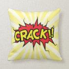 Superhero Comic Book Crack Cartoon Throw Pillow