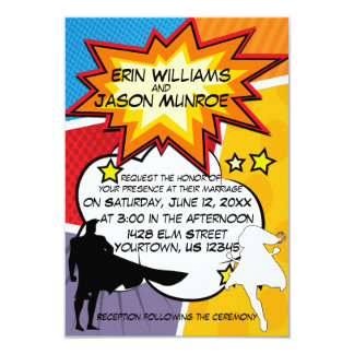 Superhero Comic Book Invitation