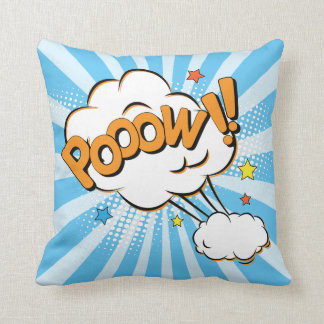 Superhero Comic Book Pow Cartoon Throw Pillow