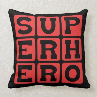 Superhero, Comic Book Protagonist Throw Pillow