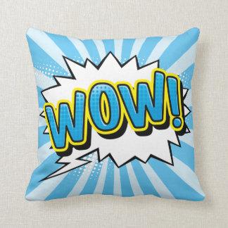 Superhero Comic Book Wow Cartoon Throw Pillow
