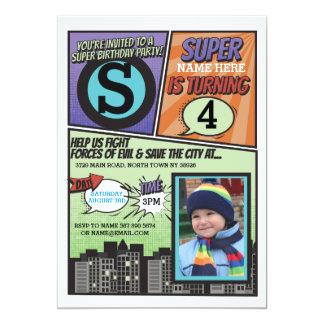 Superhero Comic Boy's Invitation Super Hero Invite