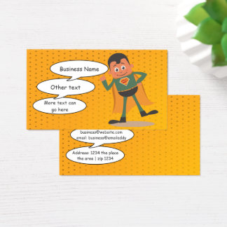Superhero Comic Style Fun Business Card