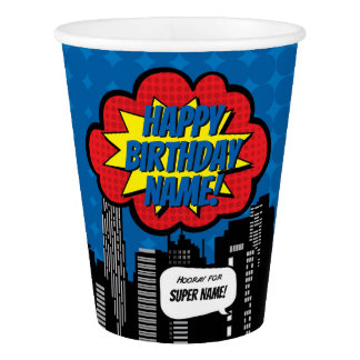 Superhero Custom Name Cup