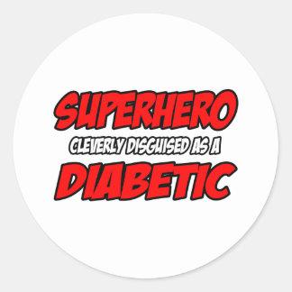 Superhero...Diabetic Classic Round Sticker