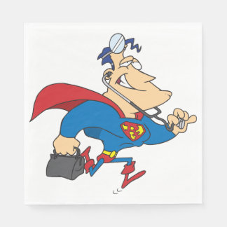 Superhero Doctor Paper Napkins