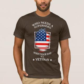 Superhero Father | USA Flag | Veteran Dad T-Shirt