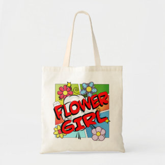 Superhero Flower Girl Tote Bag