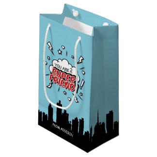 Superhero Friend Comic Valentine Gift Bag