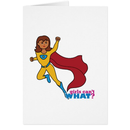 Superhero Girl Card