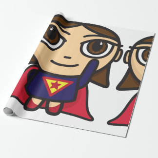 Superhero Girl Wrapping Paper