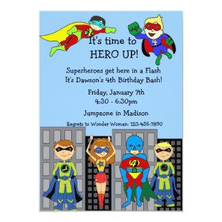 "Superhero Hero Up Invitation 5"" X 7"" Invitation Card"