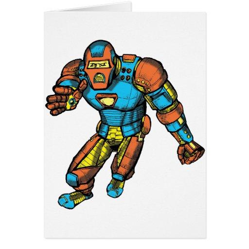SUPERHERO IN ROBOT ARMOR CARDS