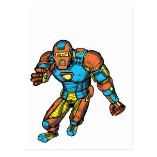 SUPERHERO IN ROBOT ARMOR POSTCARD
