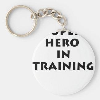 Superhero in training basic round button keychain