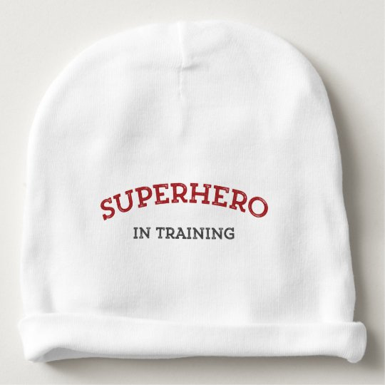 SUPERHERO in TRAINING Knit Baby Hat Baby Beanie