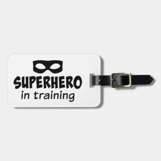 Superhero in Training Luggage Tag