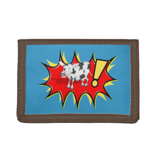 Superhero Kapow Cow Tri-fold Wallet