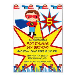 Superhero Kids Boys Birthday Party Invitations
