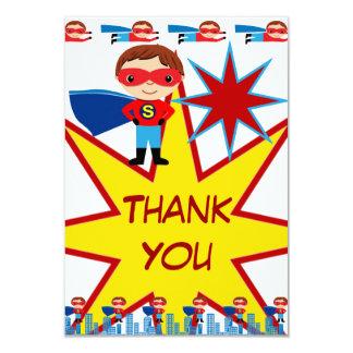 "Superhero Kids Boys Birthday Party Thank You Cards 3.5"" X 5"" Invitation Card"