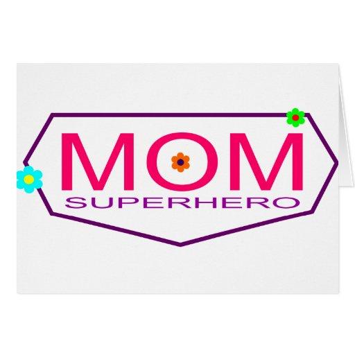 Superhero Mom Card