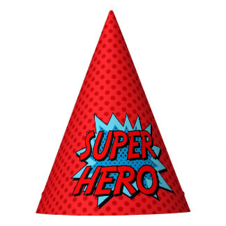 Superhero Party Hat - Red Dot