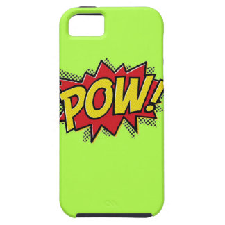 Superhero Pow Burst iPhone Case-Shocking Green iPhone 5 Cover