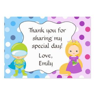 Superhero Princess Gift Favor Tag Label Large Business Card