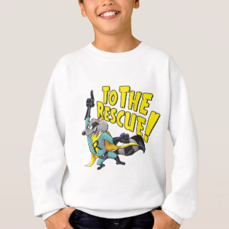 Superhero Raccoon To The Rescue Sweatshirt