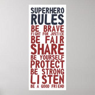 Superhero Rules Text Design Phrase Poster