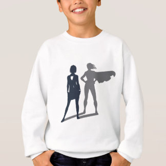Superhero Shadow Businesswoman Sweatshirt