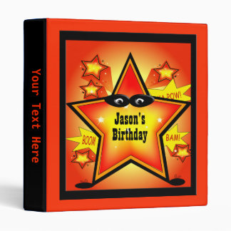 Superhero Star Kid Custom Birthday Binder