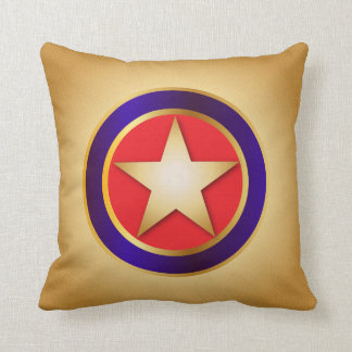Superhero Star Throw Pillow