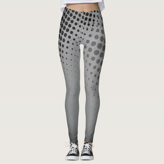 Superhero style Halftone Comic Book Leggings GRAY