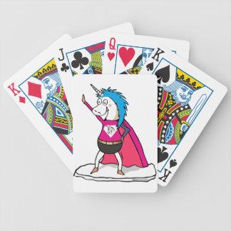 Superhero Unicorn - unicorn superhero Bicycle Playing Cards