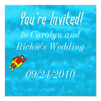 Superhero Wedding Invitation - Blue
