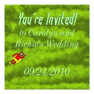 Superhero Wedding Invitation - Green