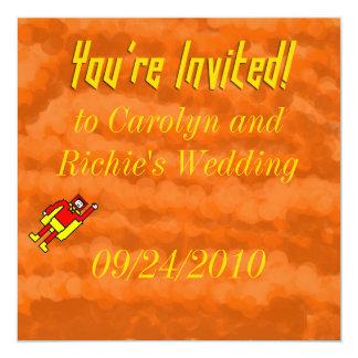 Superhero Wedding Invitation - Orange