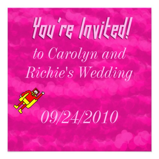 Superhero Wedding Invitation - Pink