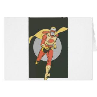 Superhero with Blast Symbol running Card