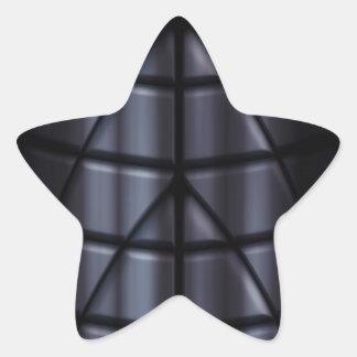 Superheroes - Black Star Sticker