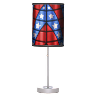 Superheroes - Blue, Red, White Stars Table Lamp