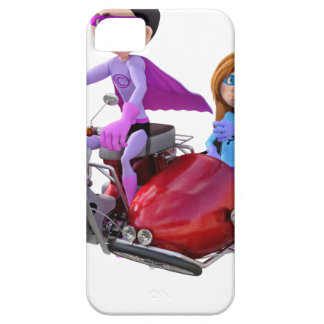 Superheroes in a Moped with a Sidecar iPhone 5 Case