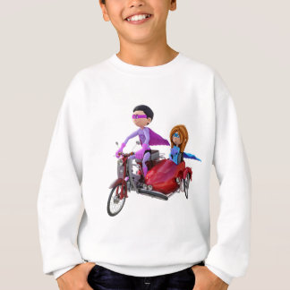 Superheroes in a Moped with a Sidecar Sweatshirt