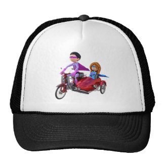 Superheroes in a Moped with a Sidecar Trucker Hat