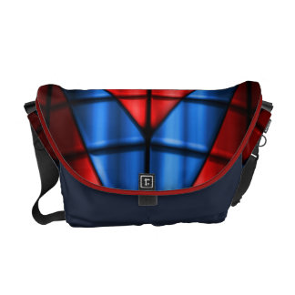 Superheroes - Red and Blue Messenger Bags