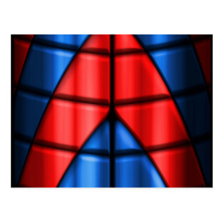 Superheroes - Red and Blue Postcard