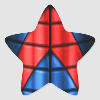 Superheroes - Red and Blue Star Sticker