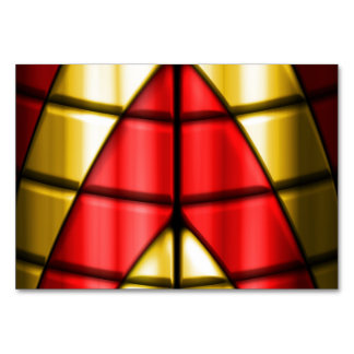 Superheroes - Red and Gold Table Card