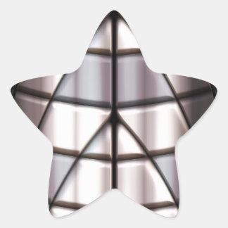 Superheroes - Silver Star Sticker